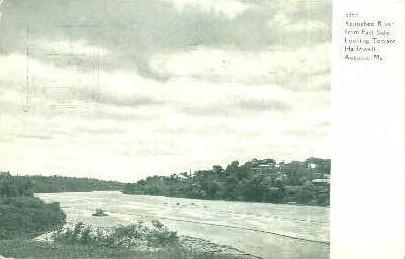 Kennebee River - Augusta, Maine ME Postcard