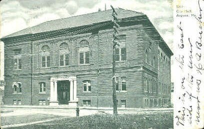 City Hall - Augusta, Maine ME Postcard