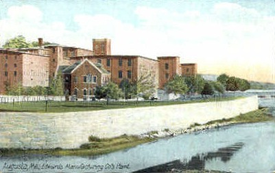 Edwards Manufacturing Co's Plant - Augusta, Maine ME Postcard