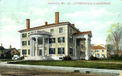 Ex. Governor Hill's Residence - Augusta, Maine ME Postcard