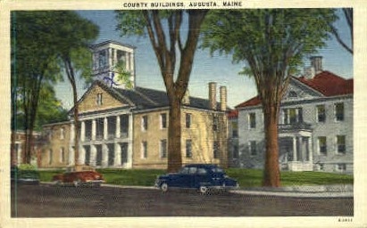 County Buildings - Augusta, Maine ME Postcard