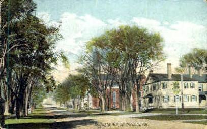 Winthrop St. - Augusta, Maine ME Postcard
