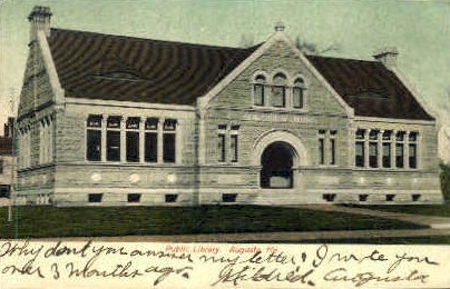 Public Library - Augusta, Maine ME Postcard