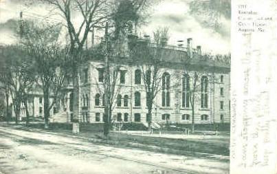 Kennebec County Jail & Court House - Augusta, Maine ME Postcard