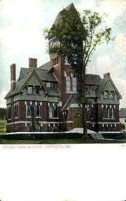 Coney High School - Augusta, Maine ME Postcard