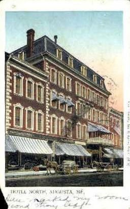 Hotel North - Augusta, Maine ME Postcard