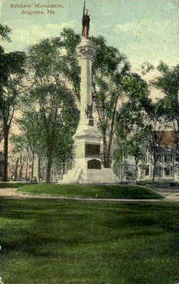 Soldiers Monument - Augusta, Maine ME Postcard