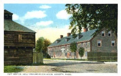 Fort Weston - Augusta, Maine ME Postcard