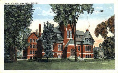 High School - Augusta, Maine ME Postcard