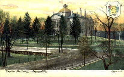 Capitol Building - Augusta, Maine ME Postcard