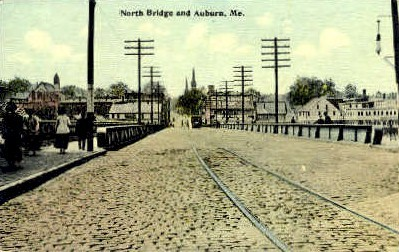 North Bridge - Augusta, Maine ME Postcard