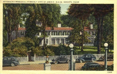 Governor's Residence - Augusta, Maine ME Postcard