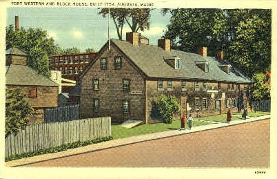 Fort Wester & Block House - Augusta, Maine ME Postcard