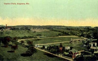 Capitol Park - Augusta, Maine ME Postcard