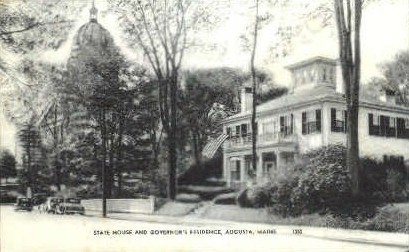 State House & Governor's Residence - Augusta, Maine ME Postcard