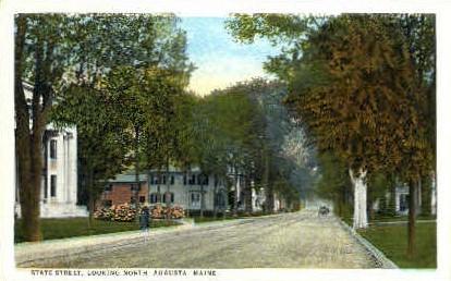 State St. - Augusta, Maine ME Postcard