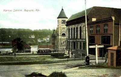 Market Square - Augusta, Maine ME Postcard