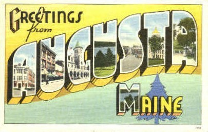 Greetings From - Augusta, Maine ME Postcard