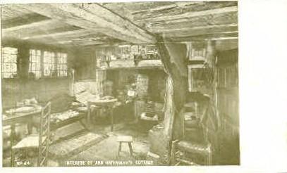 Interior, Ann Hathaway's Cottage - Augusta, Maine ME Postcard
