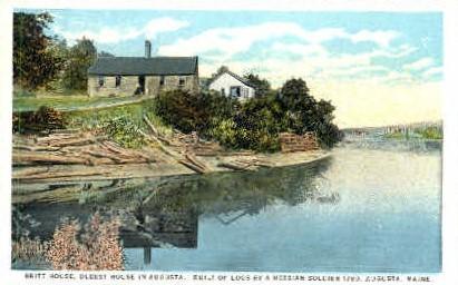 Britt House - Augusta, Maine ME Postcard