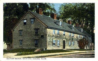 Old Fort Weston - Augusta, Maine ME Postcard