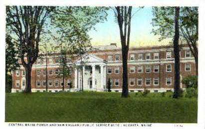 New England Public Service Building - Augusta, Maine ME Postcard
