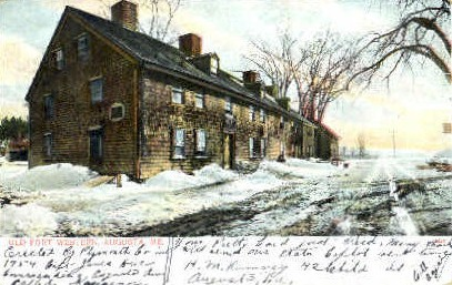 Old Fort Western - Augusta, Maine ME Postcard