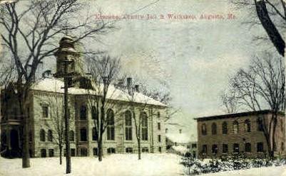 Kennebec County Jail & Workshop - Augusta, Maine ME Postcard