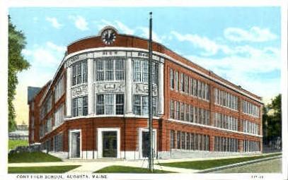 Cony High School - Augusta, Maine ME Postcard