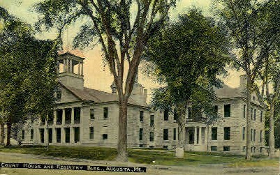 Court House & Regestry Building - Augusta, Maine ME Postcard