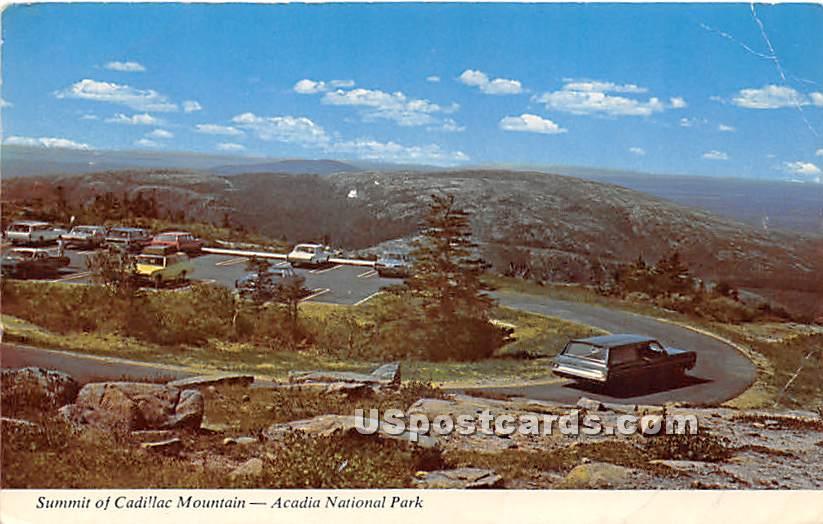 Summit of Cadillac Mountain - Acadia National Park, Maine ME Postcard