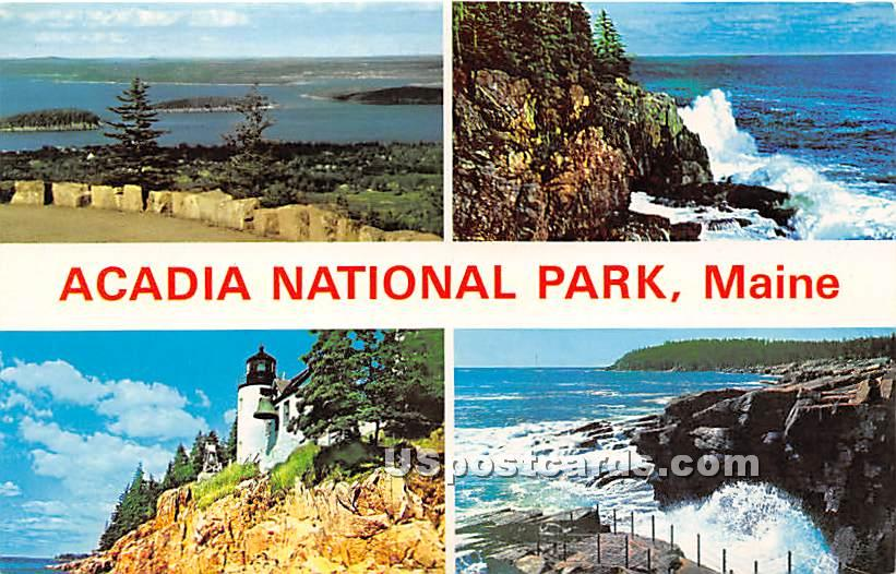 Prcupine Island from MT Cadillac - Acadia National Park, Maine ME Postcard