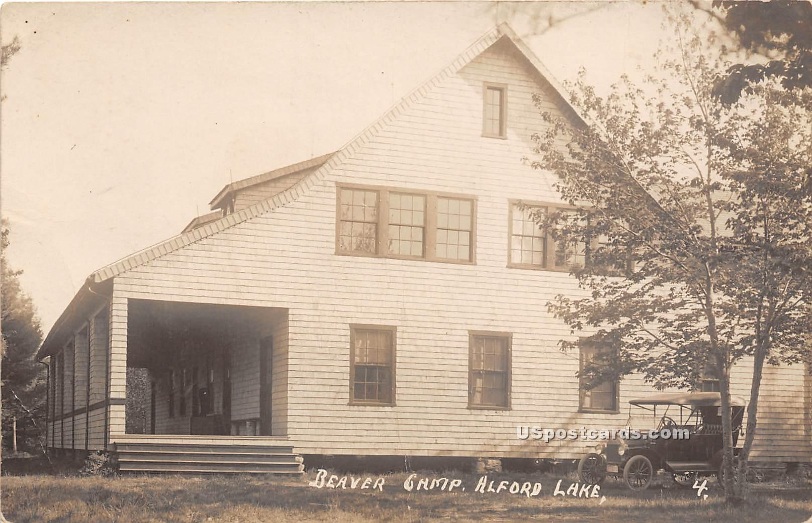 Beaver Camp - Alford Lake, Maine ME Postcard