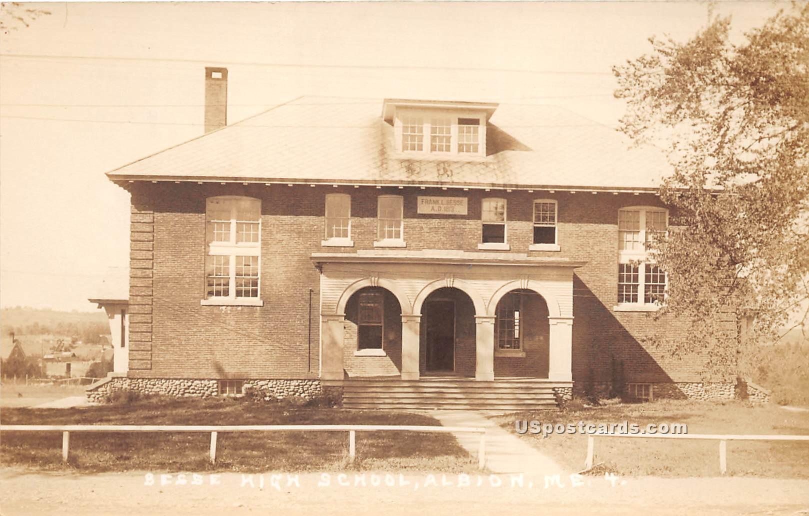 Besse High School - Albion, Maine ME Postcard