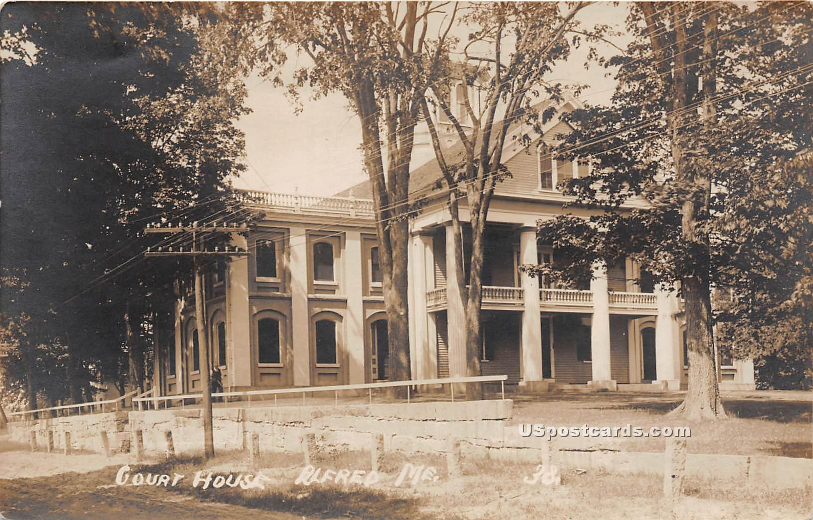 Court House - Alfred, Maine ME Postcard