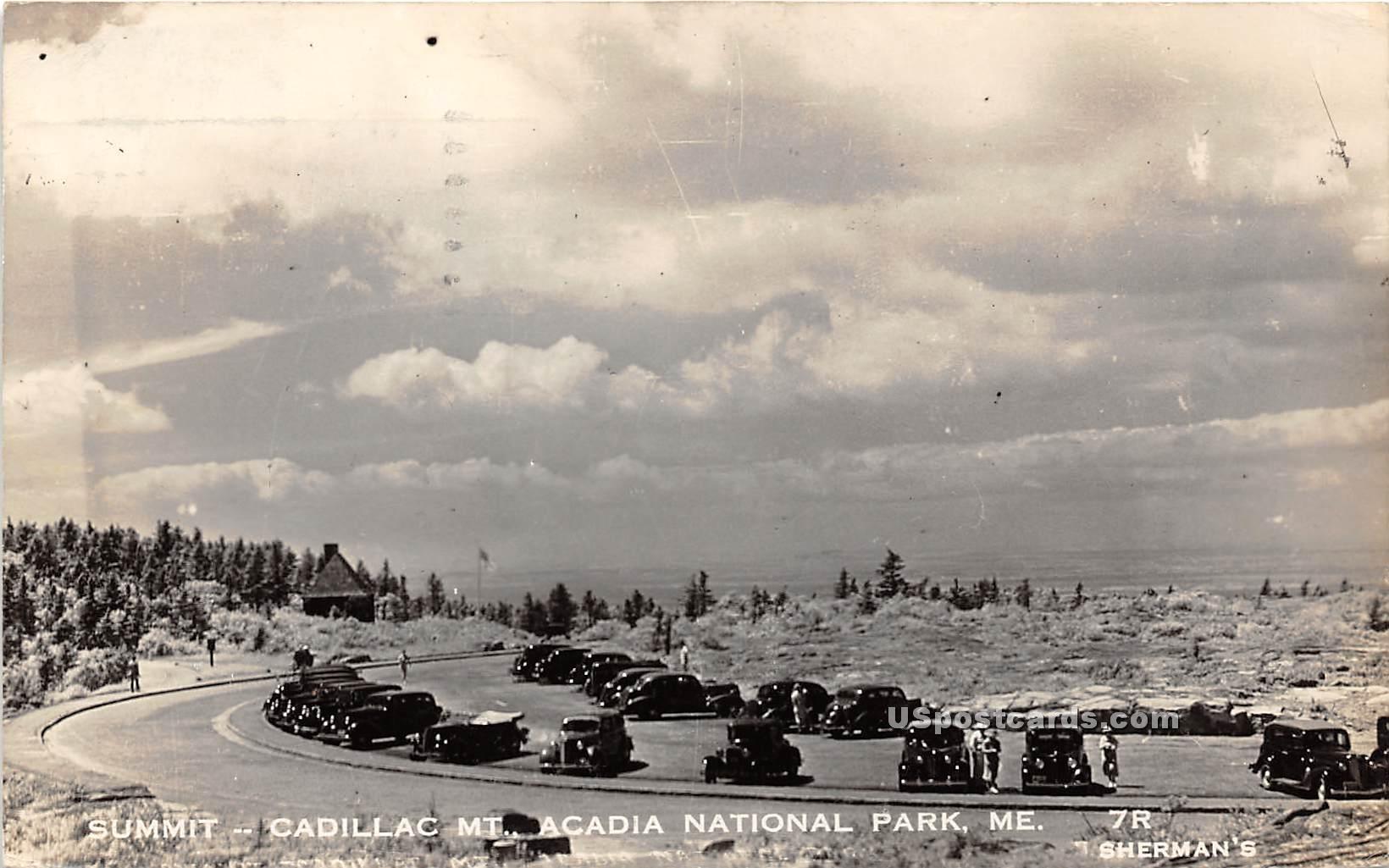 Summit Cadillac Mountain - Acadia National Park, Maine ME Postcard