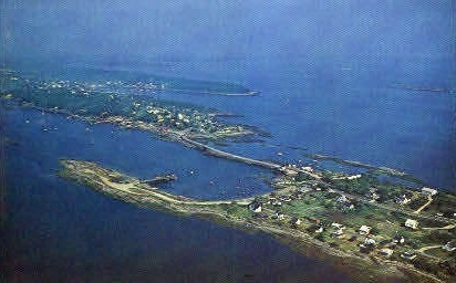 Cribstone Bridge - Bailey Island, Maine ME Postcard