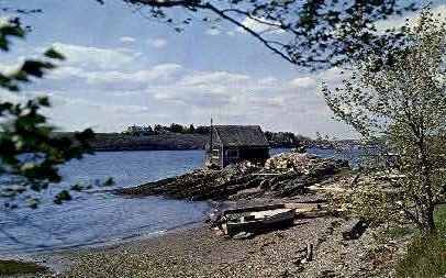 Nubble Ledge & Mackerel Cove - Bailey Island, Maine ME Postcard