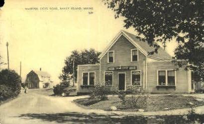 MacKerel Cove Road - Bailey Island, Maine ME Postcard