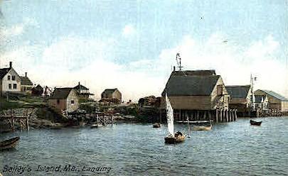Landing  - Bailey Island, Maine ME Postcard