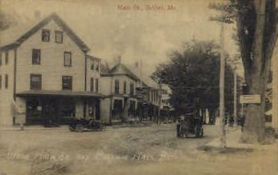 Main St. and Masonic Hall - Bethel, Maine ME Postcard