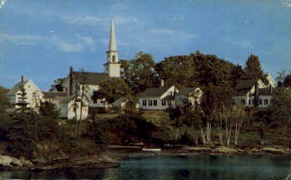 The Old Mill Cove - East Boothbay, Maine ME Postcard