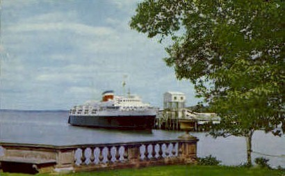 The M.V. Bluenose Ferry - Bar Harbor, Maine ME Postcard