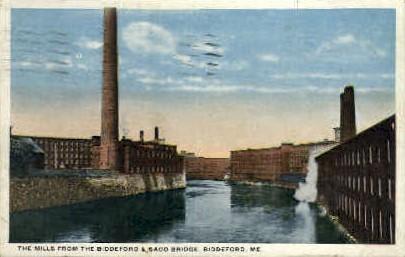 The Mills - Biddeford, Maine ME Postcard