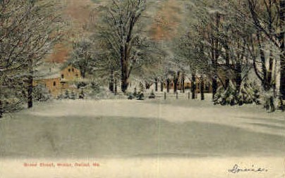 Broad St. - Bethel, Maine ME Postcard