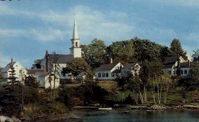 The Old Mill Cove - Boothbay Harbor, Maine ME Postcard