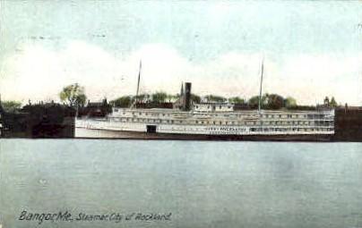 Steamer City of Rockland - Bangor, Maine ME Postcard