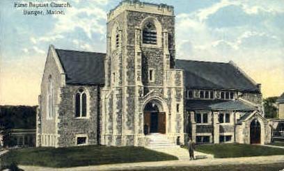 First Baptist Church - Bangor, Maine ME Postcard