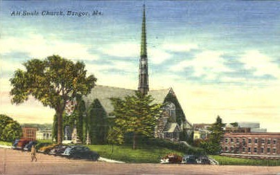 All Souls Church - Bangor, Maine ME Postcard