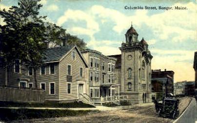 Columbia St. - Bangor, Maine ME Postcard